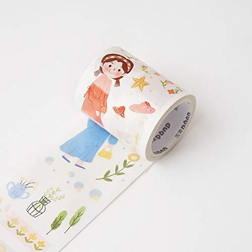 JIAODIA Cinta Decorativa de washi Original Hand Account Tape Creative Cute Handmade DIY Stickers Decorativos Hand Account Tool Material para Principiantes Cuaderno de Escritorio Alrededor del Color