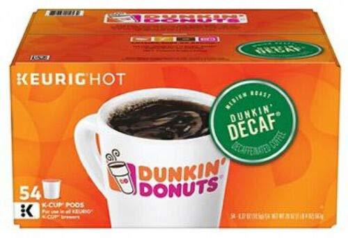 Dunkin' Donuts Original Blend Decaf K Cup Pods, 54 ct.,, 20 Oz ()