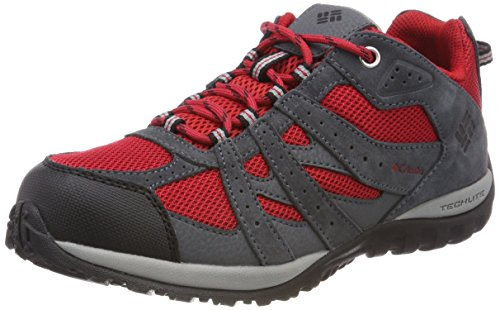 Columbia Youth Redmond Waterproof, Zapatillas de Senderismo Unisex Niños, Rojo (Mountain Red,...