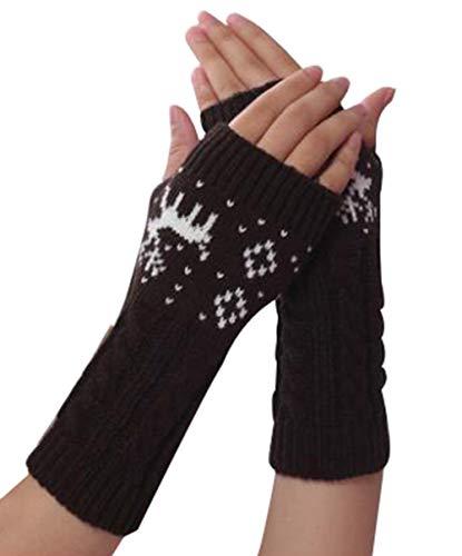 Black Temptation Herbst und Winter Strick Fäustlinge Fingerlose Handschuhe warme Handschuhe, A5