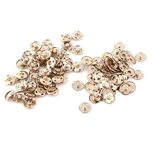 Insmart - Botones de presión (2 piezas, 17 mm, oro), 50 unidades