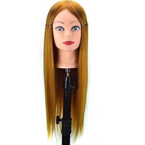 Simulation Perruque Mannequin enseignement Tête Cheveux Pratique Styling Formation Head Plate Maquillage, Cheveux, Tête Mold