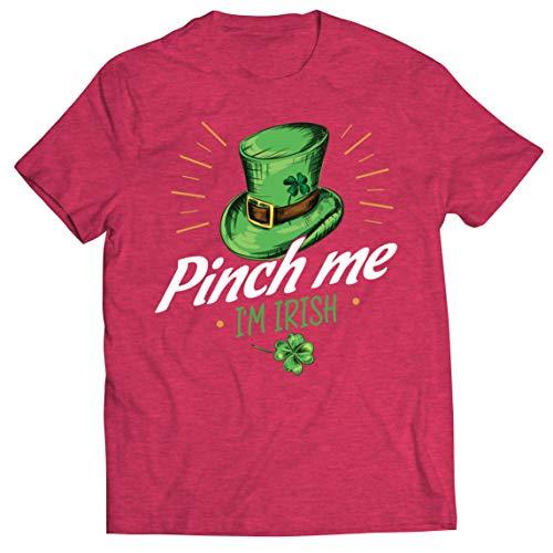 lepni.me Camisetas Hombre Pellizco yo Soy Irlandés Día de San Patricio Divertido Traje de Fiesta (XXL Brezo Rojo Multicolor)