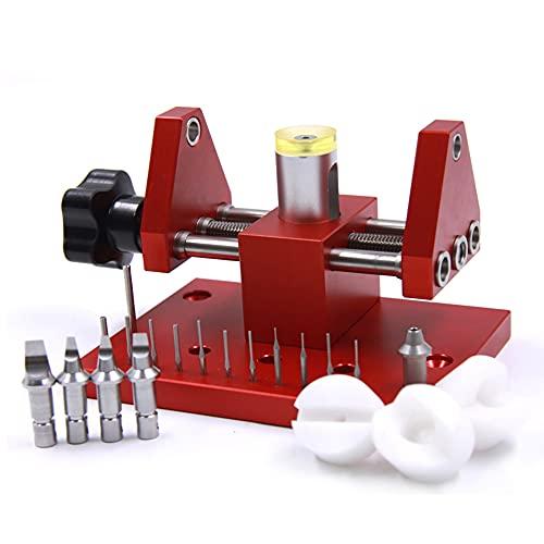Uhrengehäuseöffner, professionelles Öffner Set Uhrmacher Reparatur Werkzeug Kit Gehäusedeckelöffner für Uhrenrückseite Werkbank Entferner Gehäuseöffner für Uhrmacher zur Reparatur von Uhrmachern