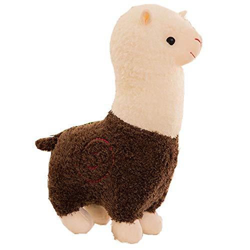 Zinsale Niedlich Regenbogen Alpaka Plüschtier Puppe Schaf Plüsch Kissen Stofftiere (35cm)