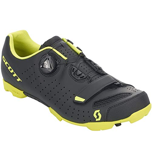 Scott MTB Comp Boa 2020 - Zapatillas de ciclismo, color negro y amarillo, Hombre, MtbCompBoa, Color negro mate Sulphur amarillo., 46