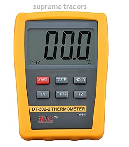 HTC New DT-302-1 Digital Large LCD Display Thermometer by Supreme Traders Supertronics1989