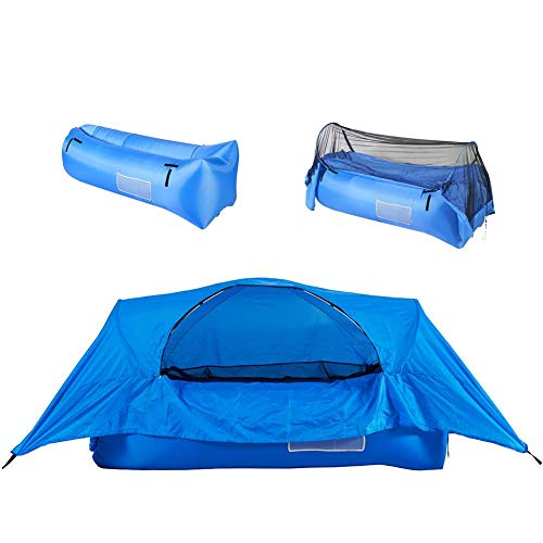 aheadad Inflatable Camping Tent Airbed Tent Air Pop Up Tent Camping Couch Inflatable Lightweight Backpacking Tent Waterproof Easy Setup Tent for Outdoor, Hiking Mountaineering Travel