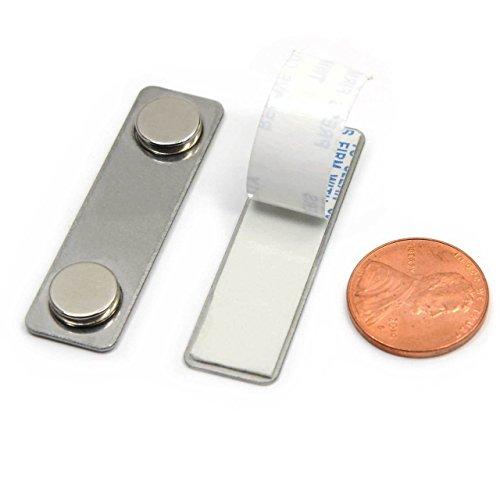 Set of 100 - CMS Magnetics Name Badge Magnets Made of Neodymium Magnets BM-2MAG-1