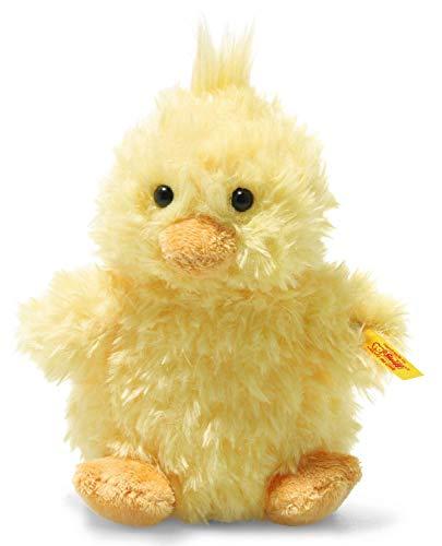 Steiff 073892 Original Plüschtier Pipsy Küken, Soft Cuddly Friends Kuscheltier ca. 14 cm, Markenplüsch mit Knopf im Ohr, Schmusefreund für Babys von Geburt an, gelb