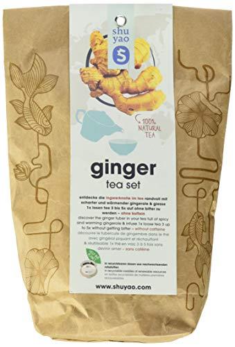 Shuyao Teekultur Ginger Tea Set naturreiner loser Ingwertee in 5x3 Tagesdosen aus Zuckerrohr