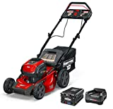 Snapper XD 82V MAX Step Sense Cordless Electric 19-Inch Lawn Mower Kit with (2) 2.0 Batteries and (1) Rapid Charger