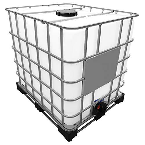 1000l IBC Wassertank auf Stahl/PE-Palette REBOTTLED Deckelgröße DN...