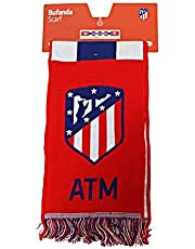 Bufanda Telar Atlético de Madrid Rayas Vertical - Nuevo Escudo - Azul Marino - Rojo - Blanco