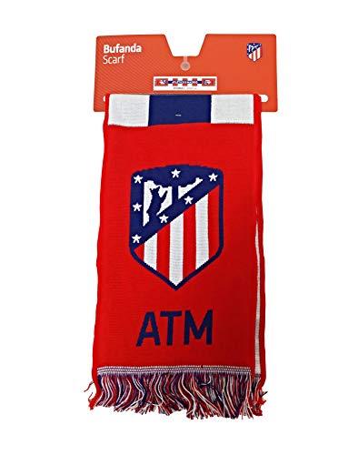 Bufanda Telar Atlético de Madrid Rayas Vertical - Nuevo Escudo - Azul...