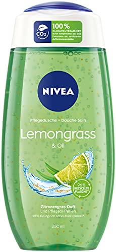NIVEA Pflegedusche Lemongrass & Oil (250 ml), erfrischendes Duschgel mit Pflegeöl-Perlen, verwöhnende Dusche mit revitalisierendem Zitronengras-Duft