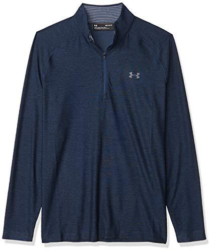 Under Armour Playoff 2.0 1/4 Zip, Polo para Deportes, Hombre, 1298951, Azul Academy (409)/Rhino Gray, S Tall