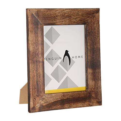 Penguin-Fotorahmen für Zuhause, Holz, verbranntes Braun, 24 x 17 cm (7