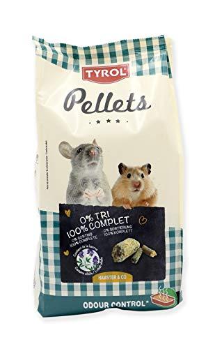Tyrol Aliment Complet Premium Pellets Hamster Rat Souris Gerbilles/Repas Granulés Vitamines Fibres