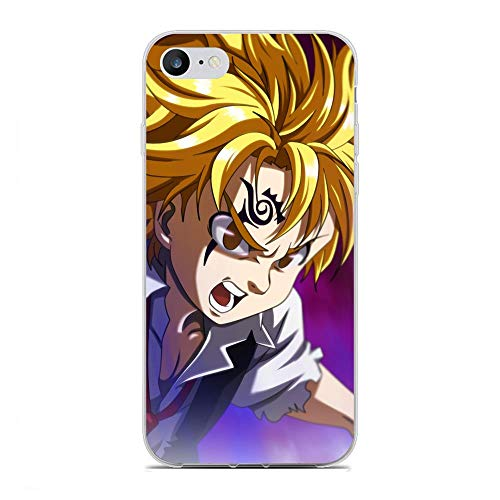 AriumClutch Soft Clear Coque Transparent Thin Rubber Shockproof Back Cover Case For Apple iPhone 7/8/SE 2020-The Seven Deadly-Sins Anime 5