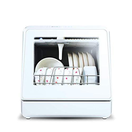 Lavavajillas De Sobremesa Lavavajillas Doméstico Automático con 6 Posiciones, Sin Instalación, Pantalla Led De 5 Programas, Desinfección A Alta Temperatura, Independiente