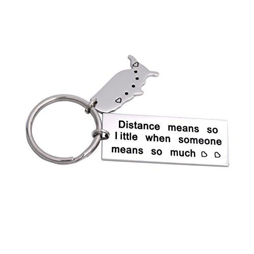 LParkin Schlüsselanhänger aus Edelstahl mit langer Distanz bedeutet so wenig wenn jemand so viel bedeutet.
