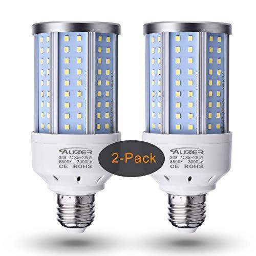 Auzer 30W (200W Equivalent), Daylight, E26 Standard Base, LED Corn Light Bulb | 2-Pack