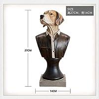 ShiSyan 置物 贈り物 オフィスホームリビングルームショップロビーバービジネス装飾アート3D紳士犬ハウンドドッグアート彫刻 プレゼント インテリア