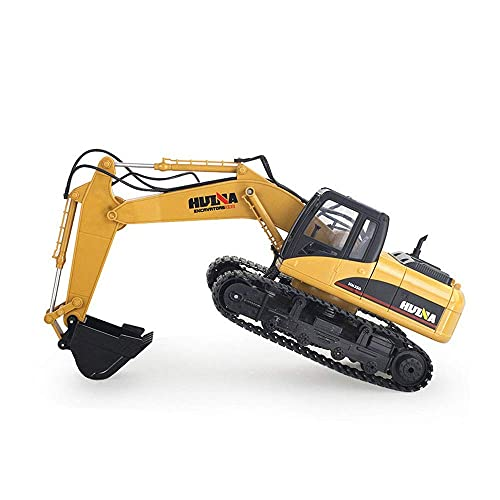 Coche de juguete de control remoto inalámbrico de 2.4G, vehículo de ingeniería RC de 15 canales, camión de construcción RC giratorio de 680 °, modelo de edificio grande, regalo de cumpleaños para ni