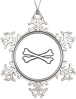 Dozili Christmas Tree Decoration Dog Bones Metal Gardens Snowflake Ornaments Merry