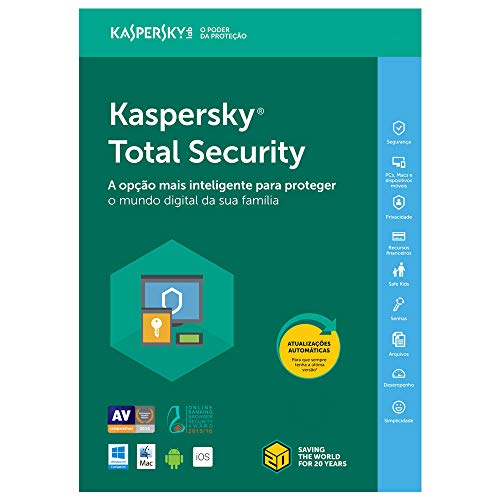 Kaspersky Total Security - Multidispositivos - 3 Dispositivos, 1 ano (Digital - Via Download)