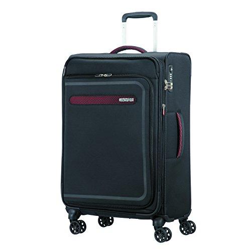 American Tourister Airbeat - Spinner 68/25 Expandable Valigia, 68 cm, 75 liters, Nero (Universe Black)