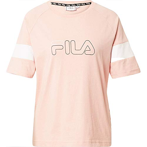 Fila Women Jacklyn tee Camiseta, Coral Cloud-Bright White, S para Mujer