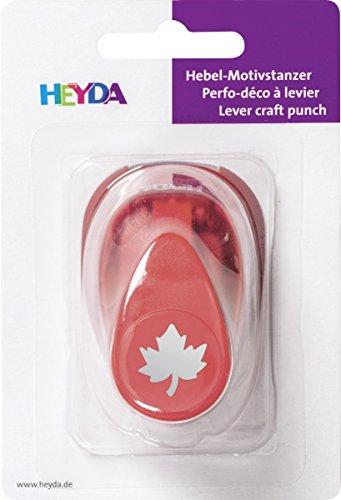 Heyda 203687426 Motivstanzer, klein Motivgröße: ca. 1, 7 cm, Motiv: Ahorn