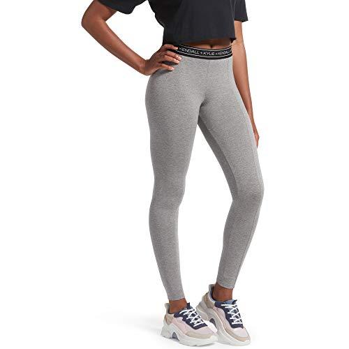 Kendall + Kylie Women's Logo Cotton Leggings, Char HEA, Extra Large