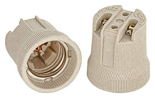 E27 Keramik Fassung F519 Edison Gewinde RoHS bis 250V und 4A von ISOLATECH; (hier: 5 Stück)