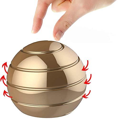 IUUWTMV Kinetic Spinning Desk Toy Ball, Desktop Ball Transfer Gyro, Full Body Optical Illusion...