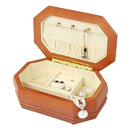 LSLS Caja joyero Organizador Organizador de Almacenamiento de gabinetes de Pecho para joyería Caja de joyería portátil de Madera Maciza Organizador de Joyas