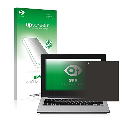 upscreen Anti-Spy Blickschutzfolie kompatibel mit Medion Akoya E2212T (MD 99720) Privacy Screen Sichtschutz Displayschutz-Folie