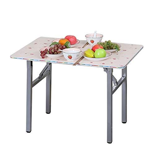 Mesa plegable, mesa de comedor cuadrada, mesa de café, mesa de estudio, mesa de picnic portátil, 80 × 53 × 60 cm
