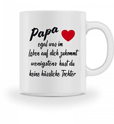 GetMerch Hochwertige Tasse - Papa egal was im Leben auf dich zukommt wenigstens hast du keine hässliche Tochter