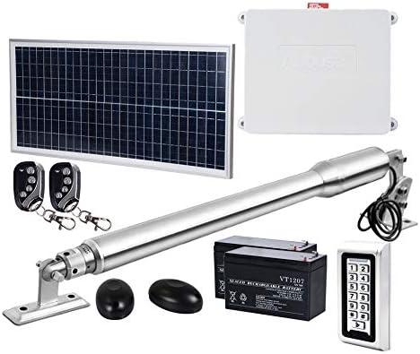 DC House EM3 Heavy Duty Single Automatic Gate Opener Kit with Waterproof Keypad Solar Single product image