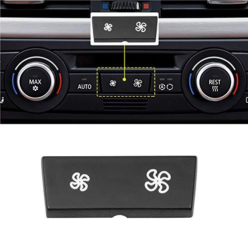 TTCR-II Panel de control del climatizador del aire acondicionado, cubierta del botón de velocidad del ventilador, compatible con BMW Serie 1 E81/E87/E88/E82, Serie 3 E90/E91/E92/E93, X1 E84 (1 unidad)