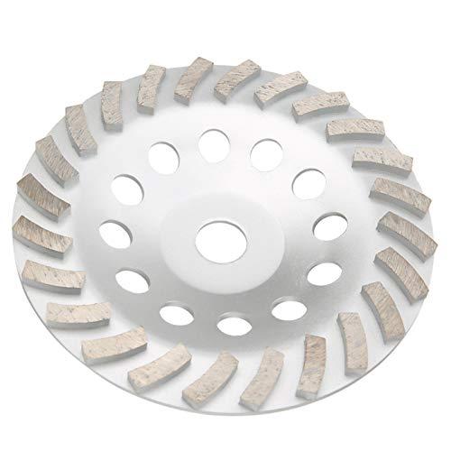 Diamante, 17,5x17,5x2,4 cm, plateado, máquina de reparación de calzado, con orificios de disipación de calor, para mampostería para piedra