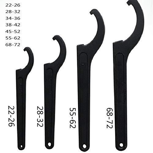 JIAHONG Handlebar 22-72mm llave inglesa herramienta ajustadora de la bici del amortiguador de choque Llave Pre Gancho de carga C de herramientas Juego de llaves herramienta de mano universal Bicycle P