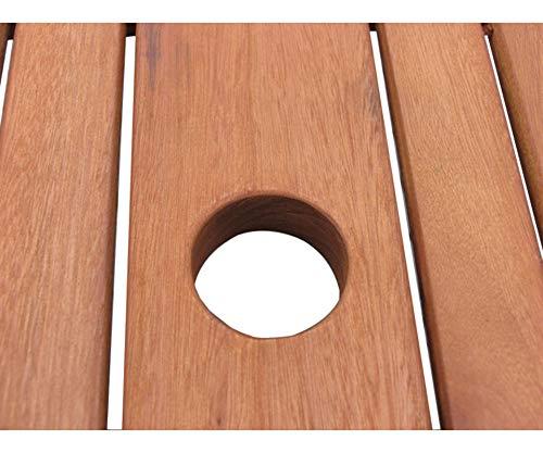 GRASEKAMP Qualität seit 1972 Gartentisch 160x90cm Natur Holztisch Tisch Gartenmöbel Eukalyptus - 3