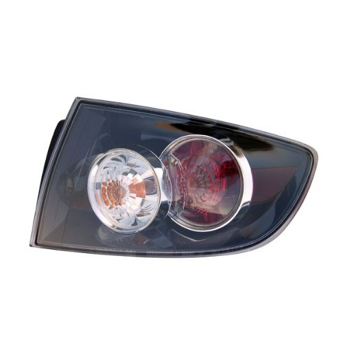 Mazda 3 Sedan Replacement Tail Light Assembly (Standard Type, Outer) - Passenger Side