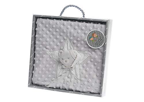 Manta del bebé, suave y caliente manta de burbuja manta de doble capa, (gris)