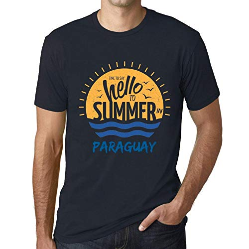 Hombre Camiseta Vintage T-Shirt Gráfico Time To Say Hello To Summer In Paraguay Marine