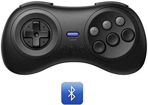 ZGYQGOO Télécommanpour Manette Jeu, contrôleur Jeu Bluetooth, Chargeur Manette Jeu USB-C, Manette Jeu sans Fil pour contrôleur Jeu, compatibilité pour Android Macos Steam, Noir